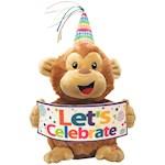 "(Set) Hooray Harry Musical Monkey 11"" Plush Stuffed Animal Toy w/ Batteries (2)"