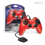 PS2 Wired Game Controller (Red) - Armor3 (1 Unit)