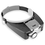 (Set) Easily Adjustable Magnifying Visor With Super-Bright LED & Batteries (2)