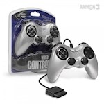 PS2 Wired Game Controller (Silver) - Armor3 (1 Unit)