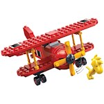 PEANUTS Flying Ace & Woodstock Snap Toys - 104 Pcs - Interlocking Brick Sets (1)
