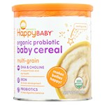 Happy Baby Happy Bellies DHA Pre and Probiotics Plus Choline Organic MultiGrain Cereal - Pack of 6 - 7 oz (6)