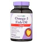 Natrol Omega-3 Fish Oil Lemon - 1200 mg - 60 Softgels (1)