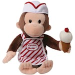 "Curious George Ice Cream Plush - Cute and Safe For All Ages - Approx. 13"" (1)"