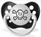 Personalized Baby Novelty Pacifiers (Pirate Black) (1 each)