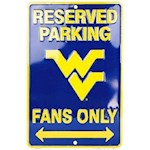 "West Virginia Mountaineers NCAA ""Fans Only"" Reserved Parking Sign (1 Unit)"