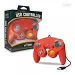 PC/ Mac Premium GameCube-Style USB Controller (Crimson Red) - CirKa (1 Unit)