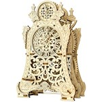 Magic Clock Mechanical Wooden Model - Contains 149 Parts w/ Wind Up Key (1)