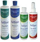 Ultimate Care Givers No Rinse Bathing Help Wash Set- Hair and Body Cleansers (4)