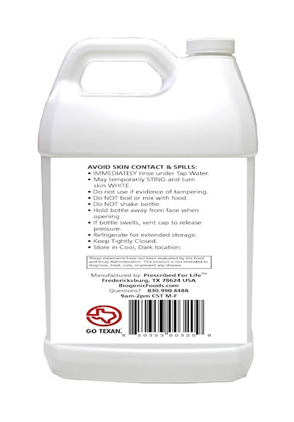 HydroProx 35 - Pure 35% Food Grade Hydrogen Peroxide (Diluted to 7 99% for  Un-Restricted Shipping), 1 gal