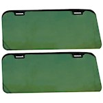 Clip On Car Visor Set - Green Tinted Polystyrene Folds Flat When Not In Use (2)