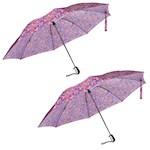 "(Set/2) Automatic Travel Umbrella Paisley - Protective Canopy - 48"" Diameter (2)"