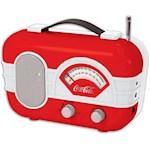 Coca Cola Retro Style AM/FM Radio - Coke Logo Portable w/ Auxiliary Input (1)