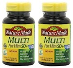 Nature Made Multi For Him 50+ No Iron 2 Bottle Pack (1 Unit)