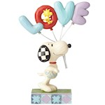 PEANUTS Snoopy & Woodstock Love Balloons Figure - Jim Shore - Sweet Gift (1)