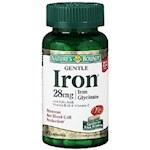 Nature's Bounty Gentle Iron 28 mg Capsules 90 Capsules Bottle (1 Unit)