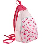 Flamingo Canvas Backpack With Unique Convertible Strap For Multiple Purposes (1)