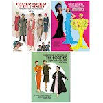 (Set/3) Decades Of Fashion Designs Paper Dolls Books - 1920s, 1930s, & 1940s (1)