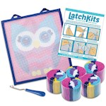 "Owl Latch Kit - Easy-To-Learn Craft - Create Your Own Soft And Fuzzy 12"" Rug (1)"