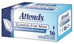 Bladder Control Pad Attends Guards For Men Light Absorbency Polymer Male Disposable (16 / Box)