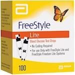 FreeStyle Lite Blood Glucose Test Strips (Box of 100)