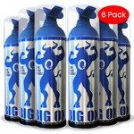 Portable Oxygen Can, Big Ox O2 Oxygen, Natural Energy 6 oz, 75 inhalations, 95% Pure Oxygen (Pack of 6)