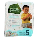 Seventh Generation Free and Clear Baby Diapers - Stage 5 - Pack of 4 - 23 Count (4)