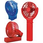 (Set) Fantastic 3 In 1 Versatile Multi-Use Folding Personal Fan w/ Batteries (2)