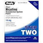 Rugby Clear Nicotine Transdermal System Patch STEP TWO (1 Box)