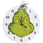 Dr Seuss The Grinch Wall Clock - Formaldehyde-Free MDF w/ Mounting Hardware (1)
