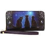 Lisa Parker Cats Wish Upon A Star Wallet w/ Detachable Wrist Strap & Zipper (1)