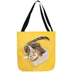 "Jazzy Tabby Cat Tote Adorable 18"" X 18"" Kitten Polyester Bag w/ Nylon Straps (1)"