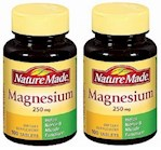 Nature Made Magnesium 250mg Tablets 2 Bottle Pack (1 Unit)