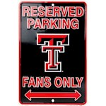 Texas Tech Red Raiders NCAA Fans Only Reserved Parking Sign (1 Unit)