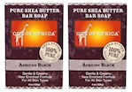 Out of Africa Pure Shea Butter Bar Soap African Black 2 Bar Pack (1 Unit)