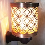Himalayan Salt Lamp And Essential Oil Diffuser - Brushed Metal w/ 15W Bulb (1)