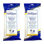 (Set/2) No Rinse Bathing Wipes Cleans & Deodorizes Caregiver Body Wipes (1)