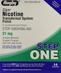 Rugby Clear Nicotine Transdermal System Patch STEP ONE (1 Box)
