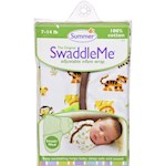 Summer Infant SwaddleMe Adjustable Infant Wrap - Small/Medium 7 - 14 lbs - Jungle White (1)