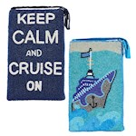 (Set) All Aboard And Keep Calm Cruise Beaded Purses - Short And Longer Strap (2)