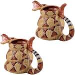 (Set of 2) Rattlesnake Coffee Mugs - The Craig Ferguson Show Ceramic Cups (2)