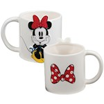 White Embossed Disney Minnie Mouse 3-Dimensional 20 Oz. Sculpted Ceramic Mug (1)