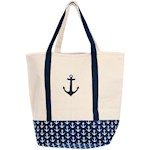 """Anchor Boat Tote Machine Washable 16"""" X 19"""" Canvas Bag w/ Reinforced Straps (1)"""