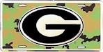 Georgia Bulldogs NCAA Camo Logo License Plate (1 Unit)