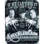 """The Three Stooges Knuckleheads Aluminum Sign USA Made Measures 16"""" x 12.5"""" (1)"""