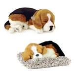 (Set) Perfect Petzzz Breathing Beagle Dog And Mini Beagle - Plush Synthetic (2)
