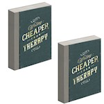 (Set/2) Writing Cheaper Than Therapy Journal - 240 Lined Pages & Hardcover (2)
