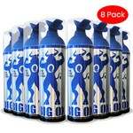Portable Oxygen Can, Big Ox O2 Oxygen, Natural Energy 6 oz, 75 inhalations, 95% Pure Oxygen (Pack of 8)