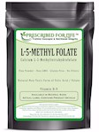 MethylFolate (L) - Natural 5-MethylTetraHydroFolate Vitamin B-9 Pure Folic Acid Powder, 5 kg (5 kg (11 lb))
