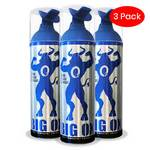 Portable Oxygen Can, Big Ox O2 Oxygen, Natural Energy 6 oz, 75 inhalations, 95% Pure Oxygen (Pack of 3)